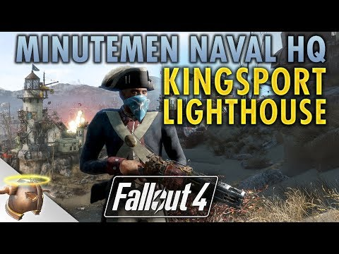 KINGSPORT LIGHTHOUSE #2: MINUTEMEN NAVAL HQ - Huge, realistic Fallout 4 custom settlement!