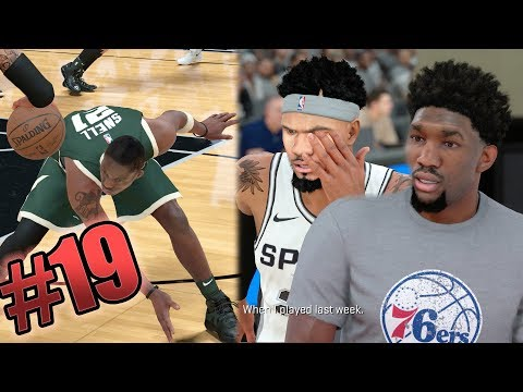 NBA 2k18 MyCAREER - Embiid Trash Talking! 3x Ankle Breakers + Insane Contact Posterizer Dunk! Ep. 19