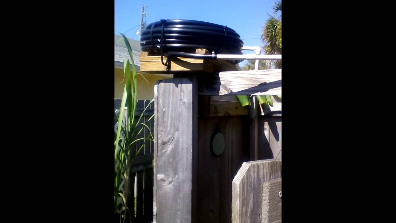 Simple Life DIY outdoor solar shower YouTube