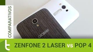 Comparativo: Zenfone 2 Laser vs Pop 4 | Review do TudoCelular