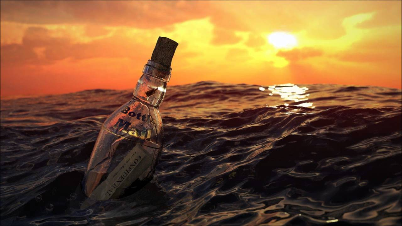 Image result for message in a bottle