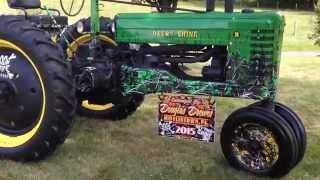 Antique Tractor - Restored John Deere B 1950 Camo Customized Farm Show Collectible