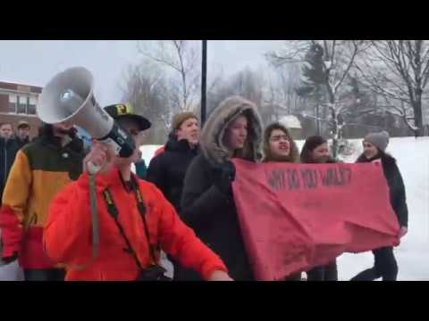 Peoples Academy walks out (March 15, 2018, Morrisville, VT)