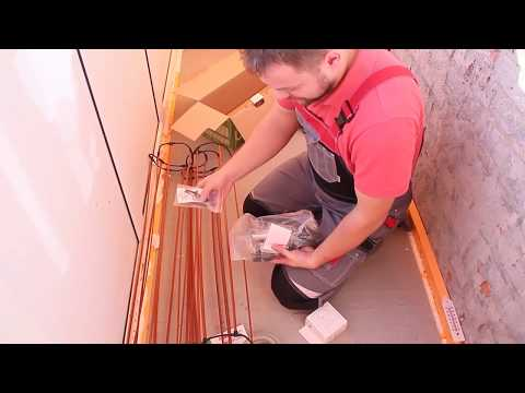 Электрический теплый пол под плитку / монтаж теплого пола своими руками