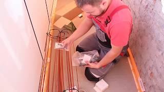 видео Инфракрасный стержневой теплый пол под плитку