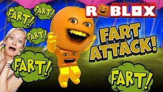 FART ATTACK! 🍊💨 | Annoying Orange Roblox