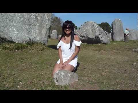 Naomi at the Carnac stones in Brittany France