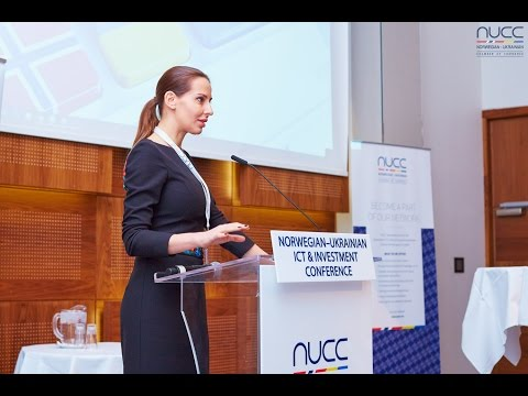 Jaanika Merilo at Norwegian-Ukrainian ICT & Investment Conference, Oslo, Nov 11, 2015