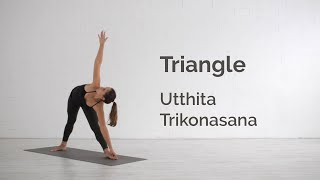 Triangle Pose (Trikonasana) Tutorial