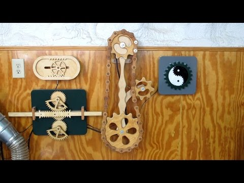 Wood Gears & Chain Mechanism Collection