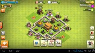 Clash of Clans - CENTRO DA VILA lvl 3 layout e estratégia de atk = )