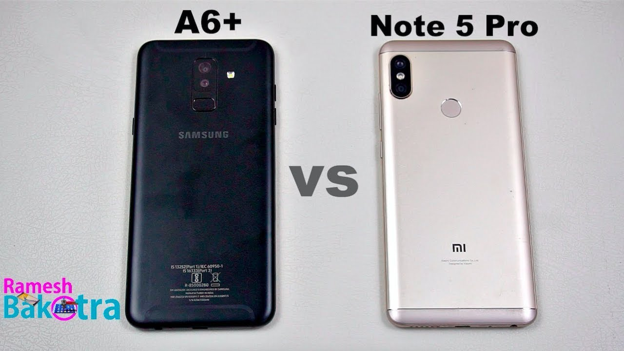 Samsung Galaxy A6 Plus Vs Redmi Note 5 Pro Speedtest Camera