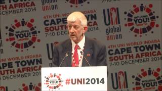 Joe de Bruyn speech at UNI World Congress