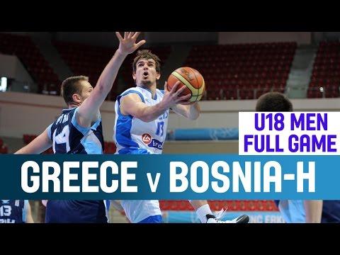 Greece v Bosnia and Herzegovina– 1st Round– 2014 U18 European Championship