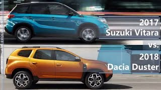2017 Suzuki Vitara vs 2018 Dacia Duster (technical comparison)