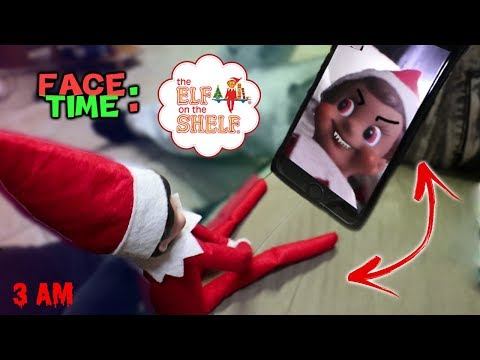 CALLING ELF ON THE SHELF ON FACETIME AT 3AM!! (ATTACKED) | DO NOT FACETIME ELF ON THE SHELF!!