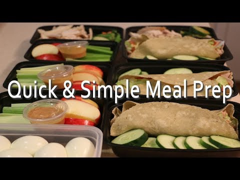 Meal Prep Healthy Wraps and No Cook Meal Options