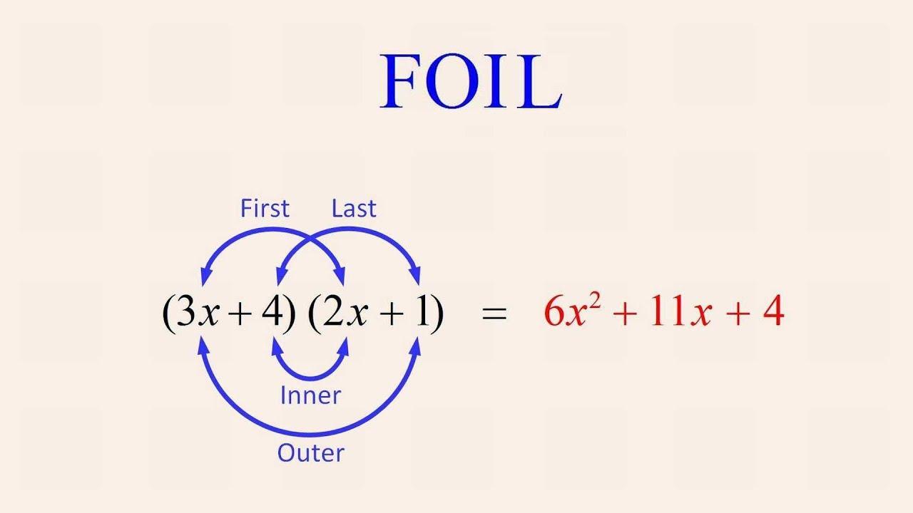 Algebra 65 Creating Quadratic Expressions Using The Foil Method