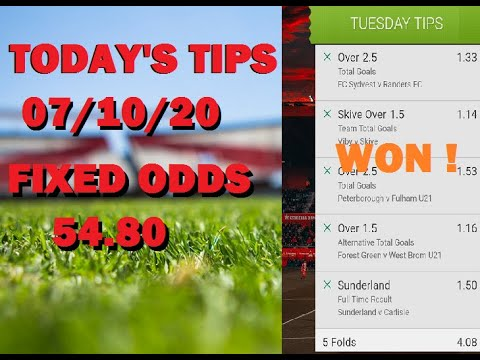 Football fixed odds betting tips fourfold betting rules for limit