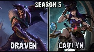 Best Draven NA vs Caitlyn ADC Ranked Challenger