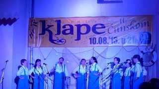 Klapa Teha - Ne karaj me mamo mila (Klape u Ćunskom 2013.)