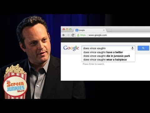 Vince Vaughn Googles Himself! - YouTube