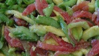 Celery, Tomato & Avocado Salad - Vegan Recipe