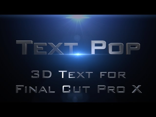 Text Pop for Final Cut Pro X
