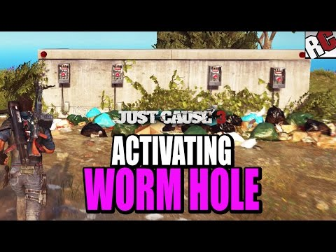 Just Cause 3 - Porto Darsena secret entrance code and going through the Wormhole (Easter Egg)
