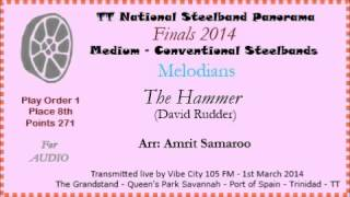 TT Panorama 2014 - Medium Finals. Melodians - The Hammer (David Rudder) (Arr Amrit Samaroo)