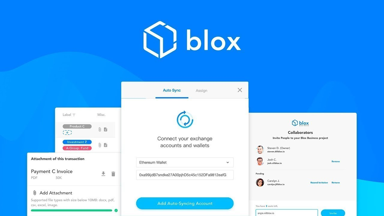 Blox io - Financial Management For Crypto Assets