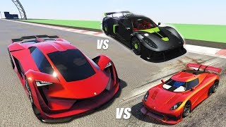TEST DE VELOCIDAD: PEGASSI TEZERACT VS ENTITY XXR VS CHEVAL TAIPAN | GTA V Online