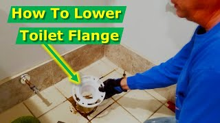 Toilet Flange Too High | How to Fix Wobbly Toilets, Repair, Install New