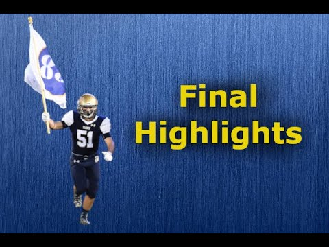 Noah Smith -  Collegiate Football Highlights || Navy Sprint Football