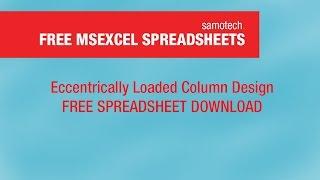 Eccentrically Loaded Column Design Spreadsheet (Reinforced Concrete Design)