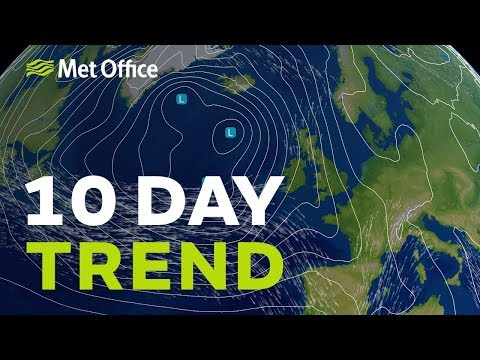 10 Day trend – will it stay unsettled into next week? 07/11/18