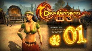 Let's Play Drakensang 100% - Part 01 (german) - Intro, Charaktererstellung, Ankunft in Avestreu