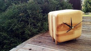 Making smooth wooden desk clock
