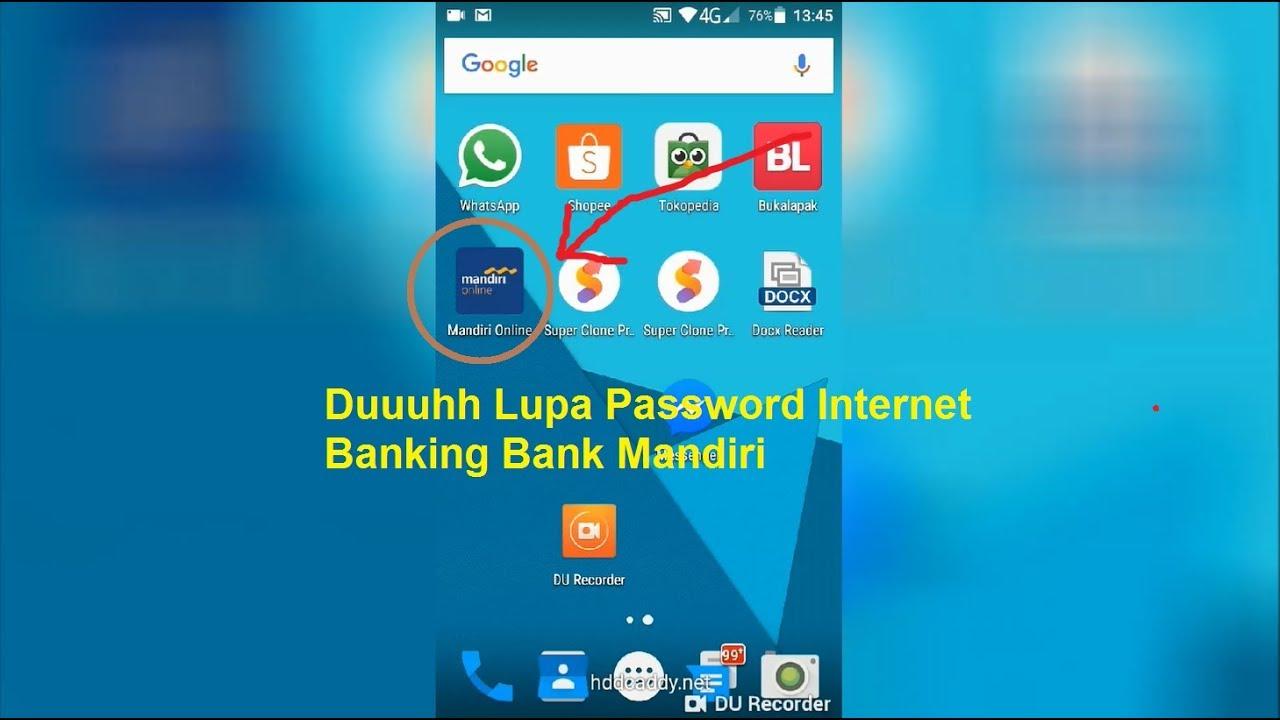 Lupa Password Mobile Banking Bank Mandiri Bagaimana Cara Reset Password Youtube
