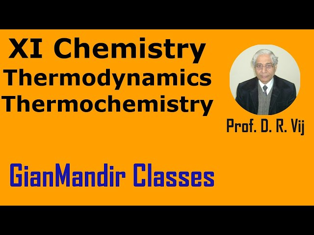 XI Chemistry - Thermodynamics - Thermochemistry by Ruchi Mam