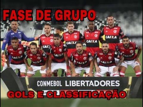 GOLS DO FLAMENGO NA FASE DE GRUPO DA LIBERTADORES 2018