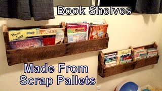 Dyi Pallet Book Shelf's From Old Pallets - Reclaimed Wood - Use Your Resources.