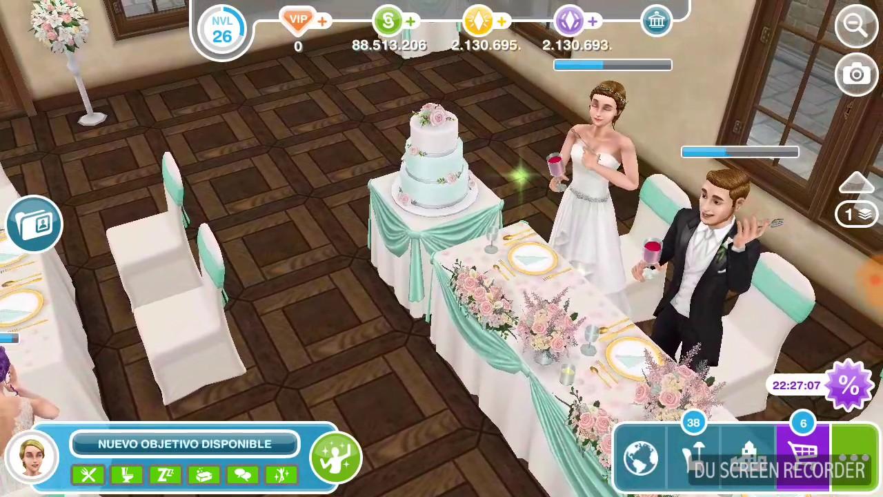 Pastel De Bodas Sims Freeplay