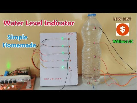 Without IC & sensor || simple Water Level Indicator made at home