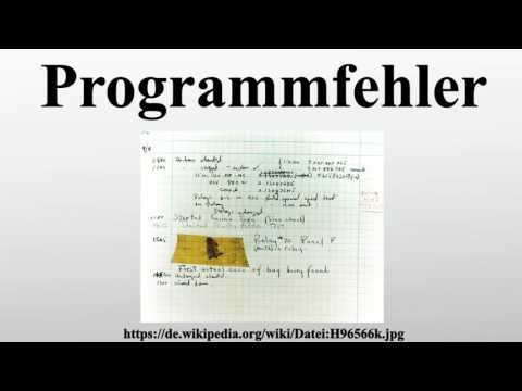 Programmfehler