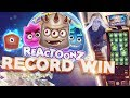 RECORD WIN!!! Reactoonz BIG WIN - Casino - Bonus Round (Huge Win)
