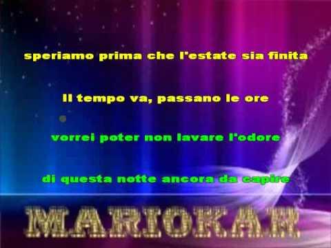 Alex Britti   Solo Una Volta O Tutta La Vita karaoke