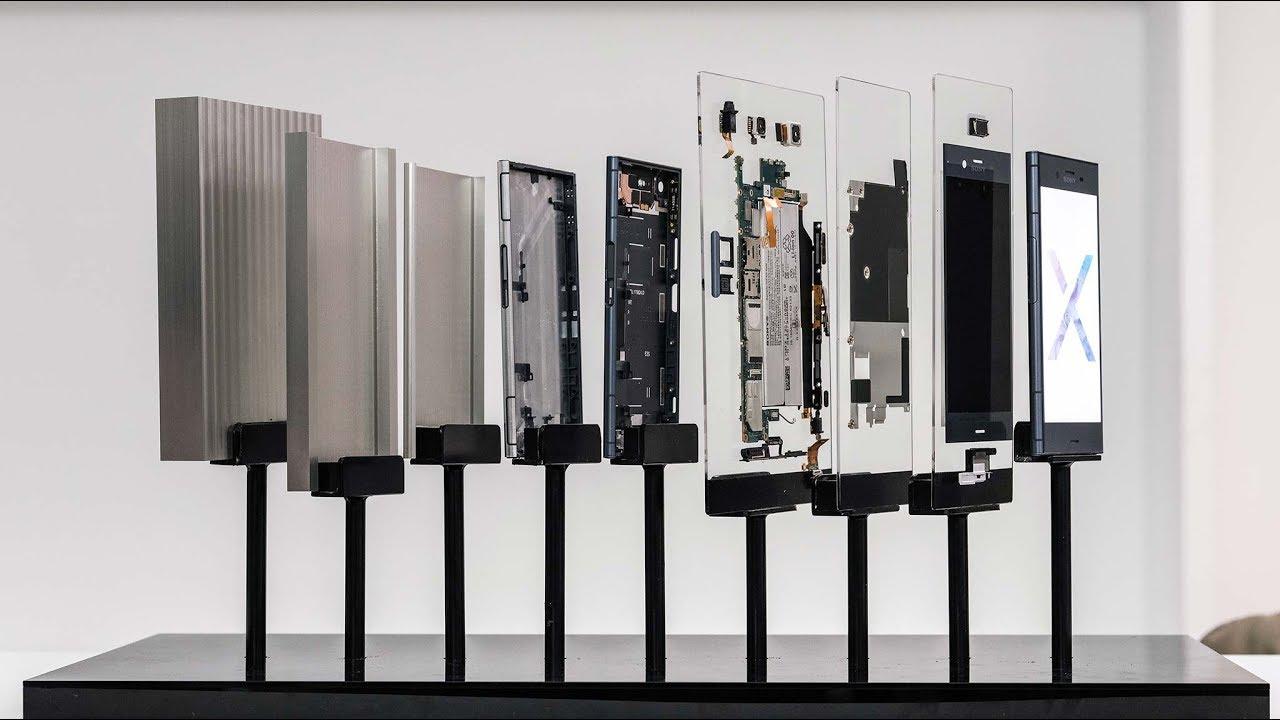 Sony Xperia XZ1: từ khối kim loại đến các linh kiện