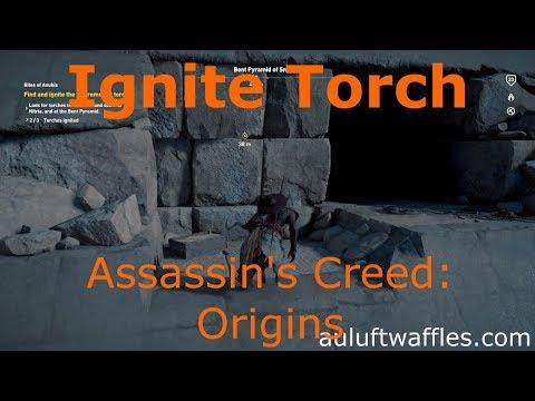 Ignite Ceremonial Torch Bent Pyramid of Snefaru Rites of Anubis Assassin's Creed: Origins