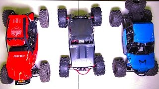 RC ADVENTURES - Compare! Capo ACE-1, BLACK WiDOW Wraith, Axial BOMBER RC Trucks